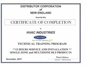 Carrier Certified Technicians Hvac Industries In Boston Ma
