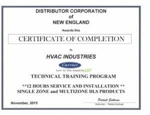 Carrier Certified Technicians Hvac Industries In Boston Ma
