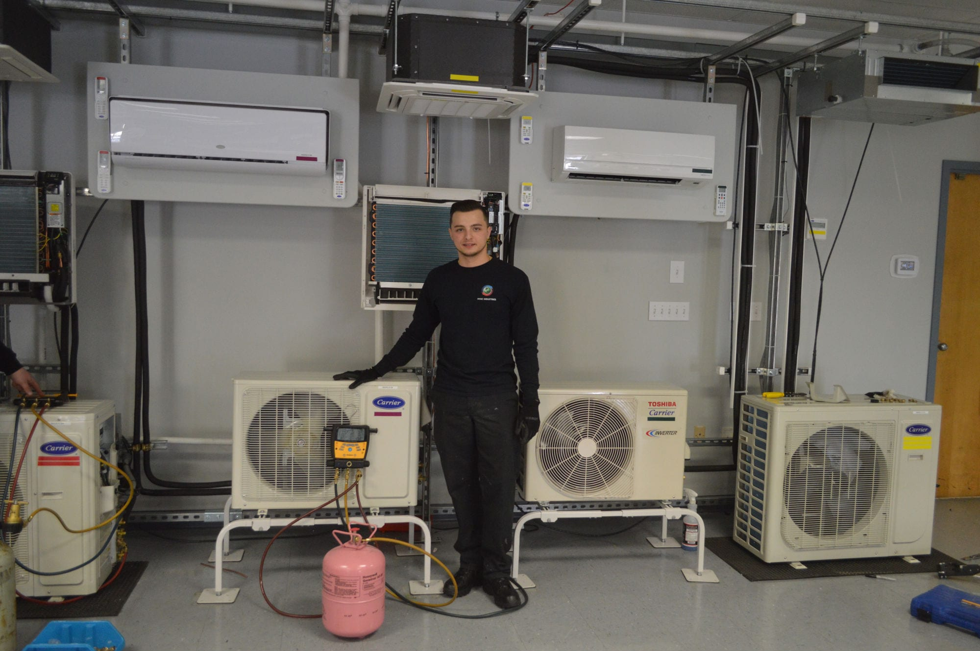 Carrier DCNE Training Center HVAC Commercial Project