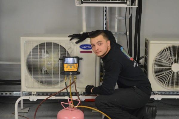Carrier DCNE Training Center HVAC Commercial Project