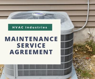 HVAC Maintenance Service Agreement