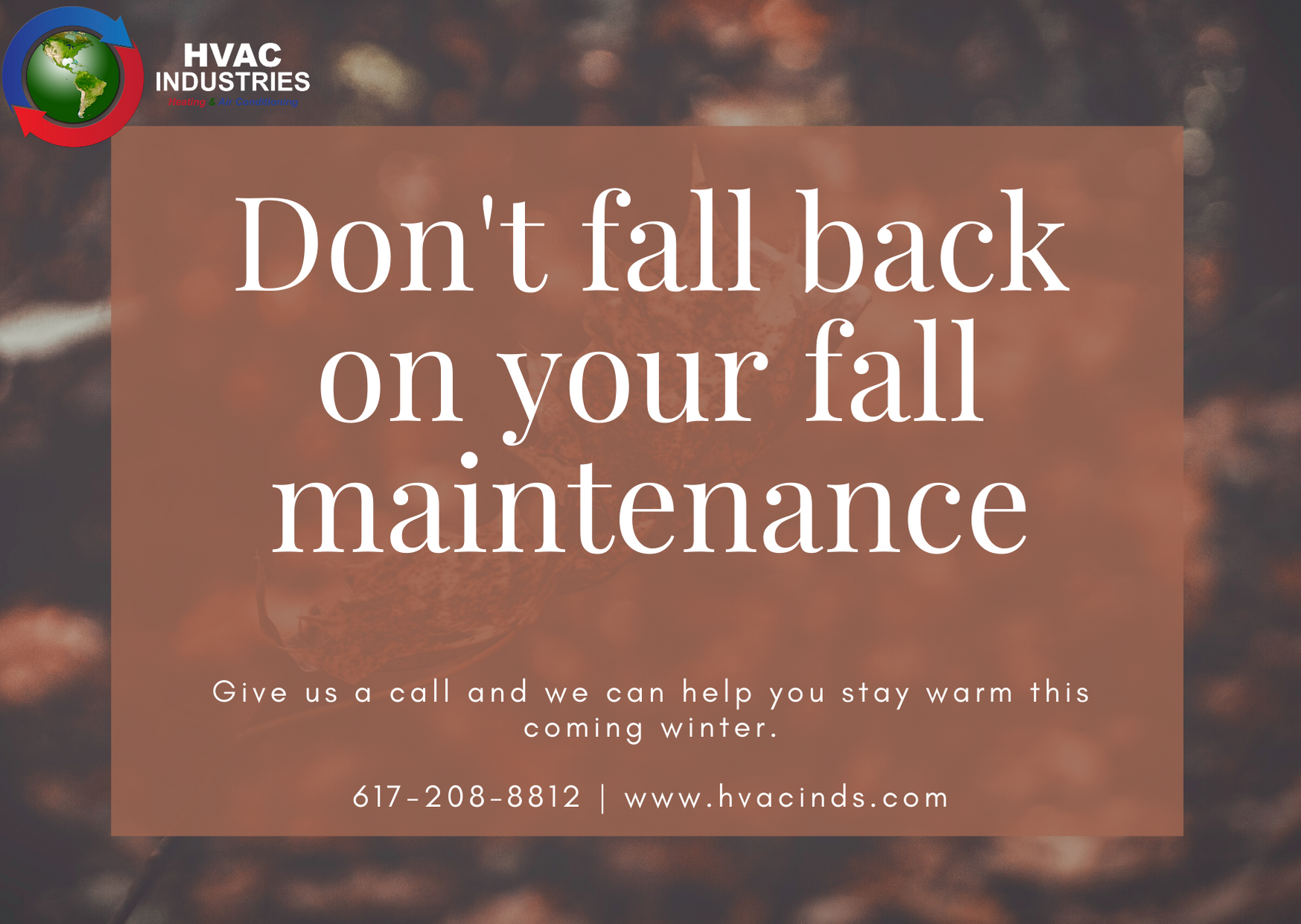 Don't fall back on your fall maintenance